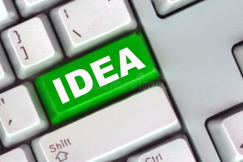 Clavier avec le bouton vert de l'idée photo libre de droits