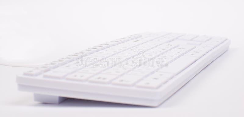 Clavier blanc avec la vue différente image stock