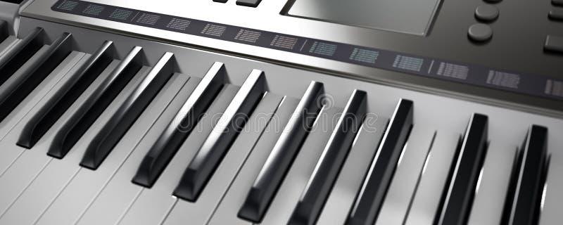 Clavier contemporain et générique de musique de conception illustration 3D illustration stock