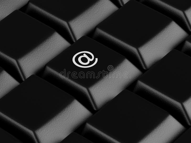 Clavier d'ordinateur illustration libre de droits