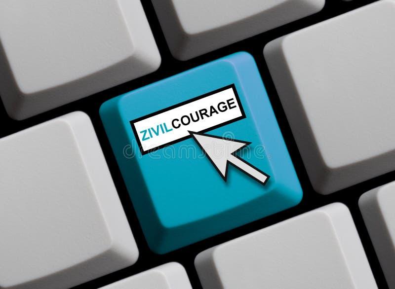 Clavier d'ordinateur : Allemand civil de courage illustration libre de droits
