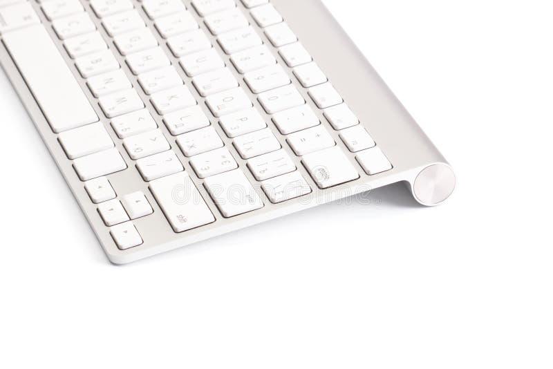 Clavier d'ordinateur D'isolement sur le blanc photographie stock
