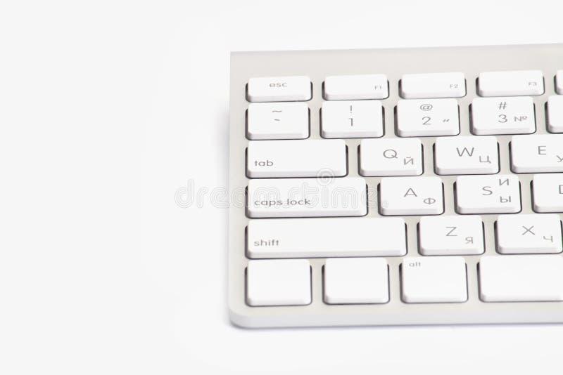 Clavier d'ordinateur D'isolement sur le blanc photos libres de droits