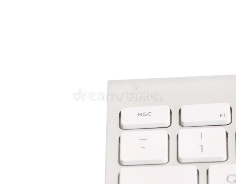 Clavier d'ordinateur D'isolement sur le blanc photos stock
