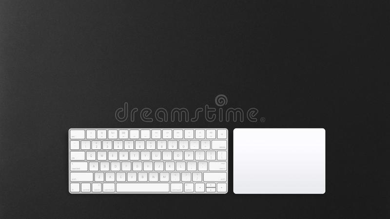 Clavier d'ordinateur et trackpad sans fil photos libres de droits