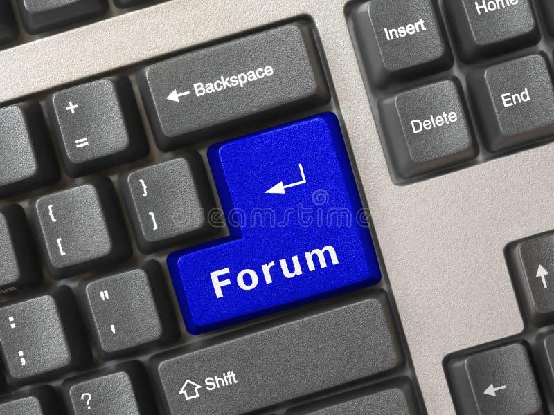 Clavier d'ordinateur - forum principal images stock