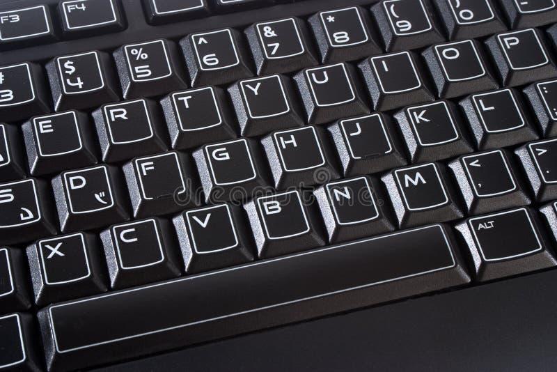Clavier d'ordinateur noir images libres de droits