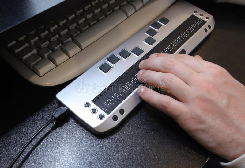 Clavier de Braille image stock