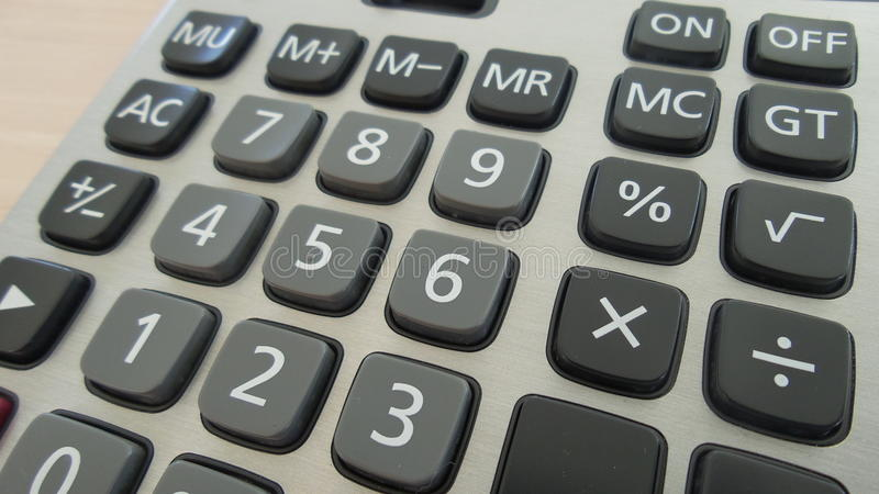 Clavier de calculatrice photographie stock libre de droits
