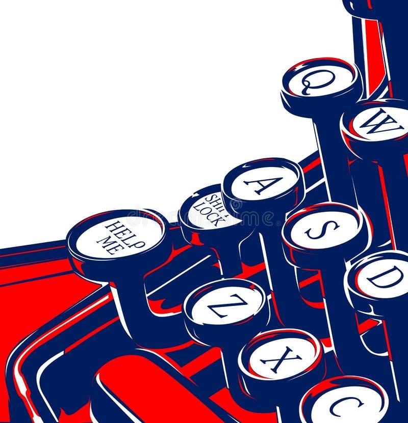 Clavier de machine à écrire illustration libre de droits