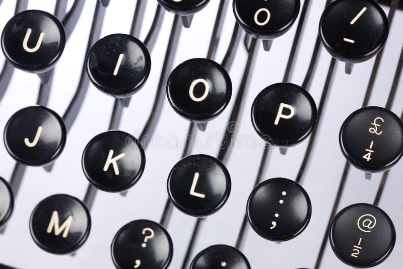 Clavier de machine à écrire photos libres de droits