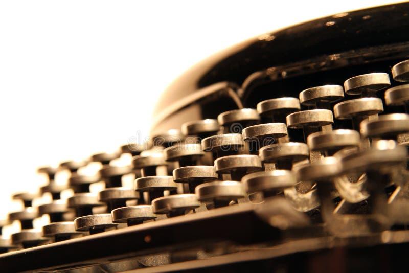 Clavier de machine à écrire manuel de cru photos libres de droits