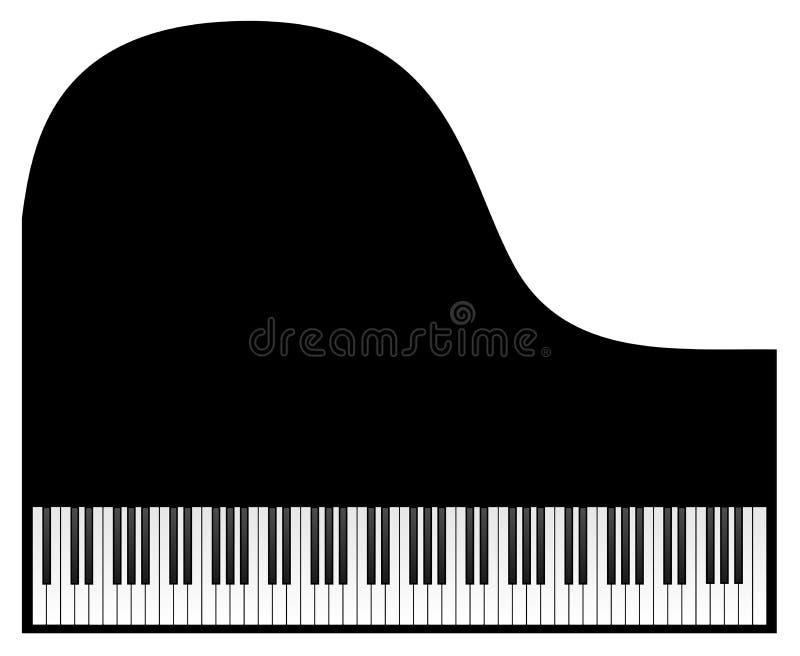 Clavier de piano à queue illustration stock