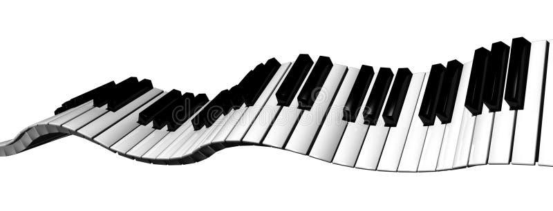 Clavier de piano 1 illustration stock