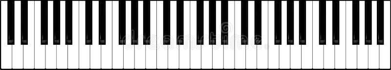 Clavier de piano image stock