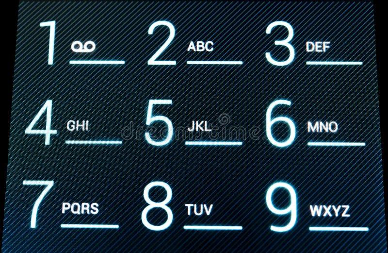 Clavier de téléphone de Digitals photographie stock
