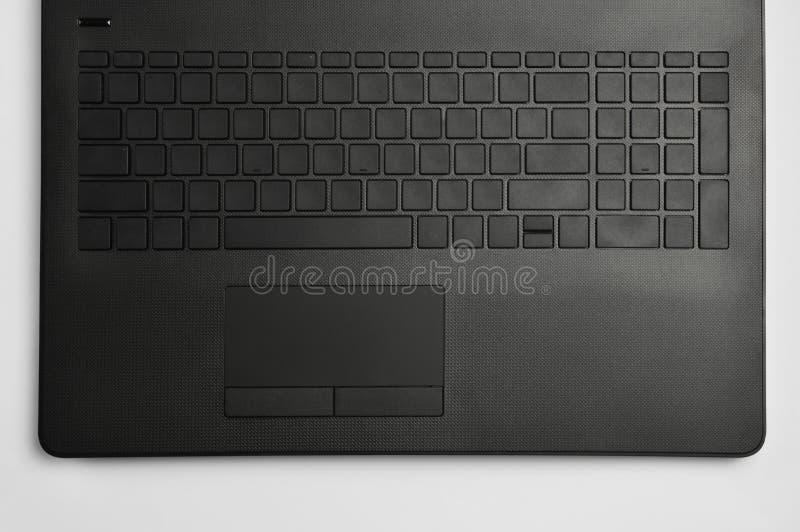 Clavier et touchpad d'ordinateur portable photographie stock