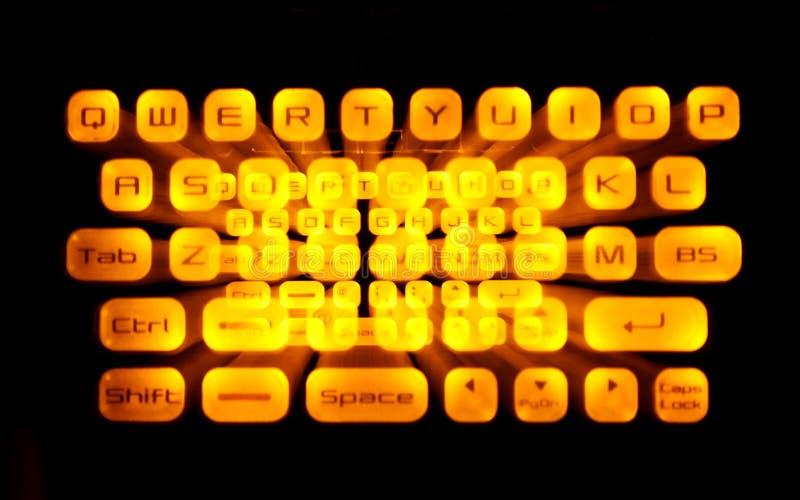 Clavier lumineux photo libre de droits