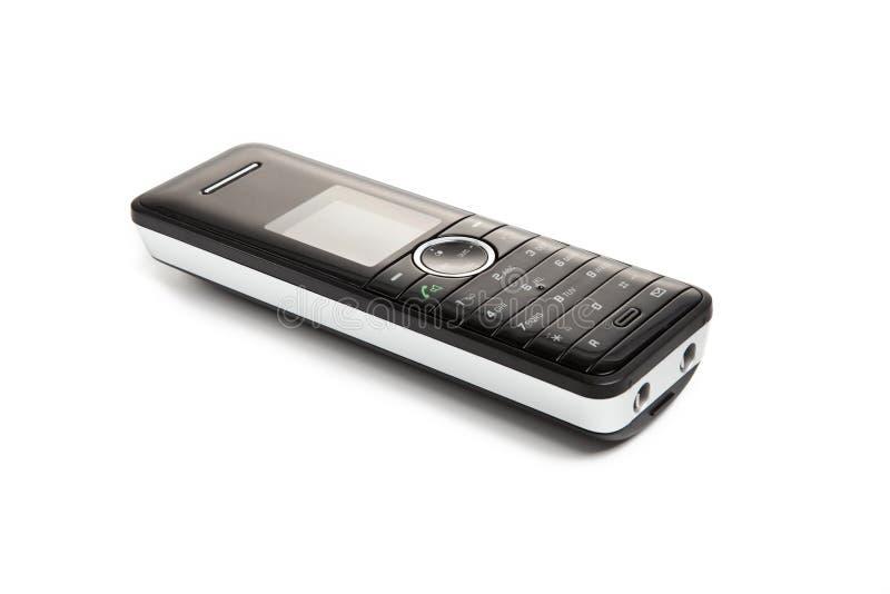 Clavier noir de téléphone sans fil photo libre de droits