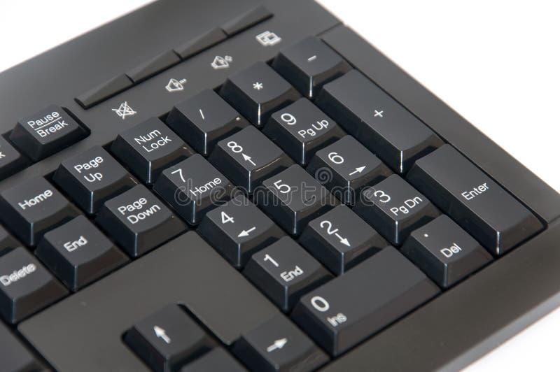 Clavier noir sans fil de PC d'ordinateur images libres de droits