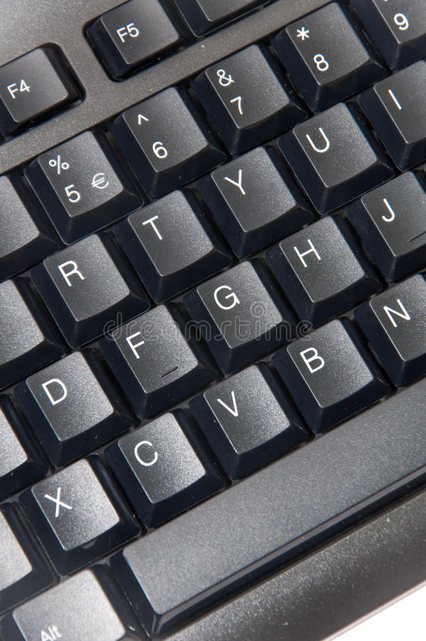 Clavier noir sans fil de PC d'ordinateur image stock