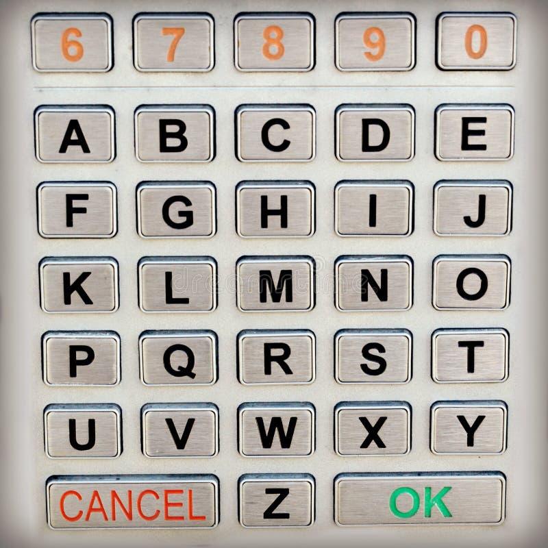 Clavier numérique d'alphabet images stock