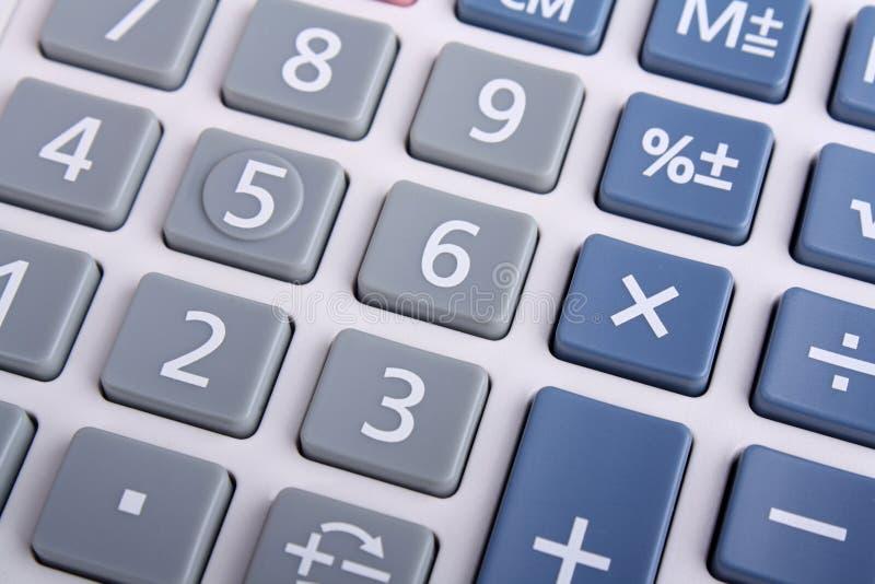 Clavier numérique de calculatrice images libres de droits