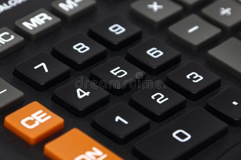 Clavier numérique de calculatrice photographie stock libre de droits