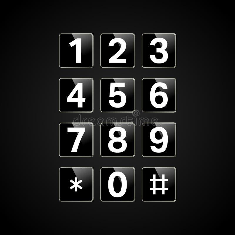 Clavier numérique de Digital avec des nombres illustration de vecteur