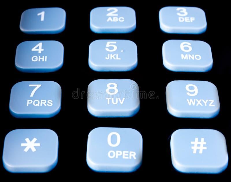 Clavier numérique de téléphone photographie stock libre de droits