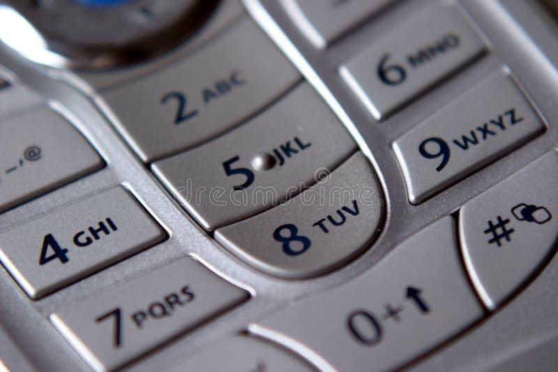 Clavier numérique mobile photo libre de droits