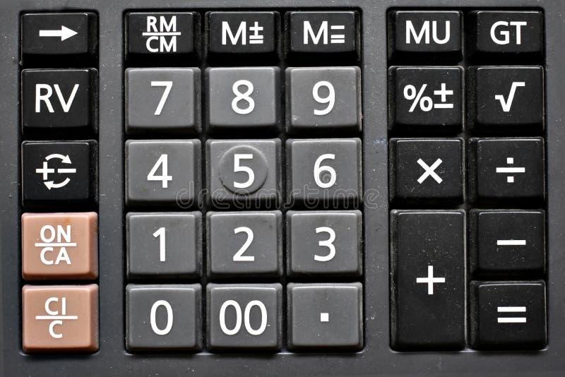 Clavier numérique sale de calculatrice images libres de droits