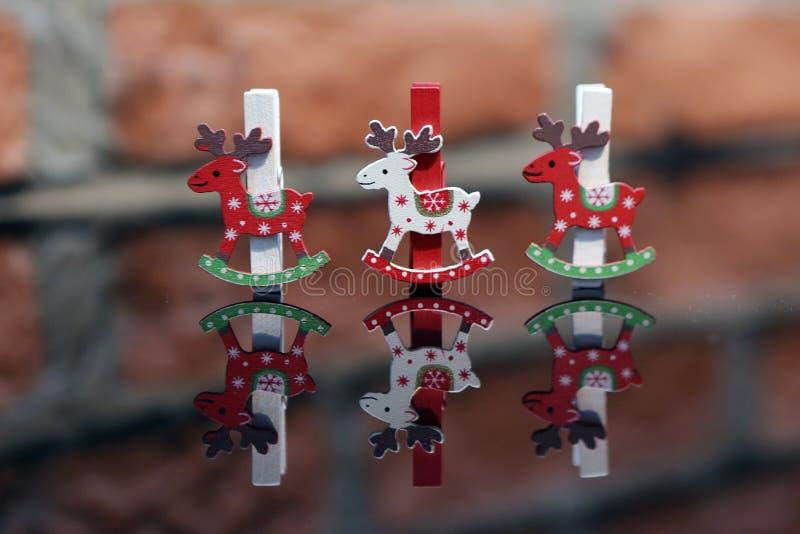 Clavija de ropa de la Navidad foto de archivo libre de regalías