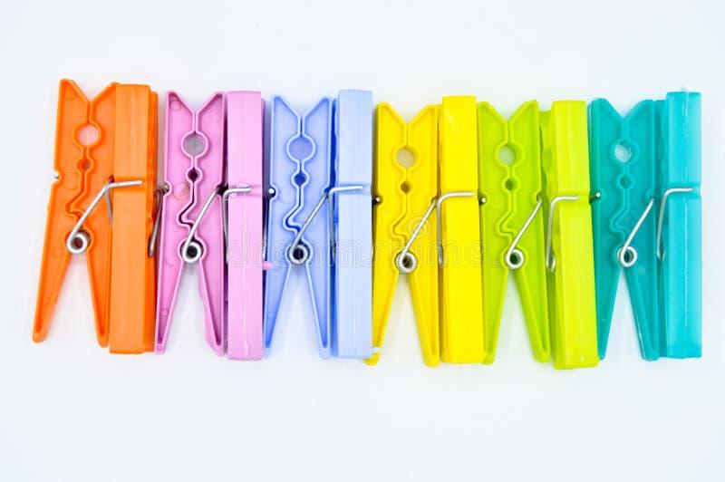 Clavija de ropa del color equipo casero pl?stico foto de archivo libre de regalías