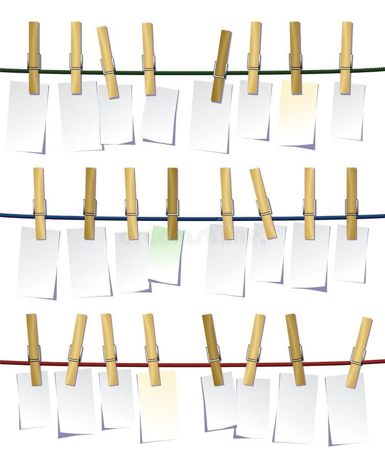 Clavijas de ropa ilustración del vector