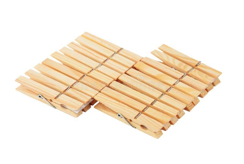 Clavijas de ropa de madera imagen de archivo