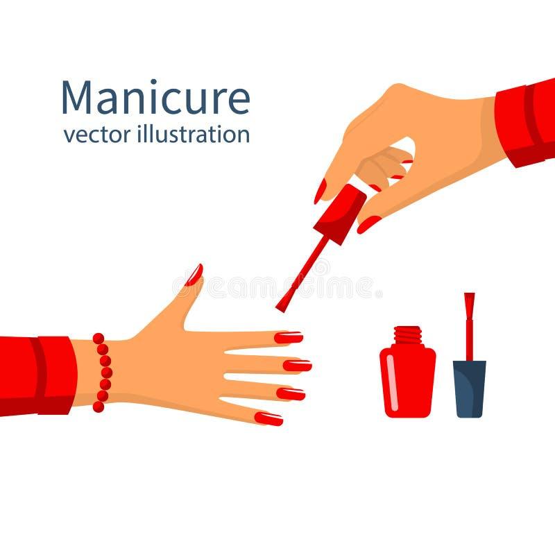 Clavos de la pintura del cartel de la manicura libre illustration