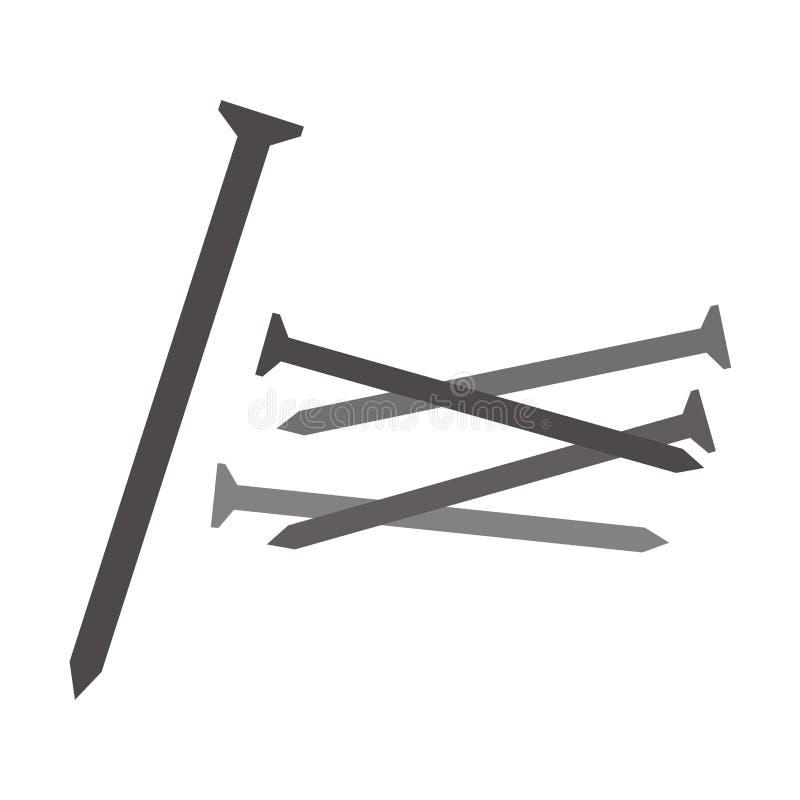 Clavos, sistema stock de ilustración