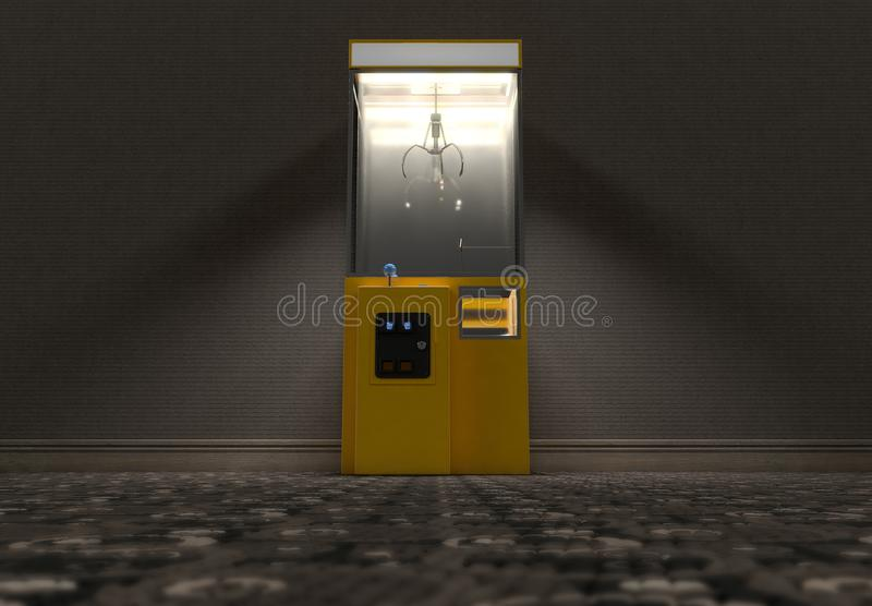 Claw Arcade Game In Room royalty free illustration