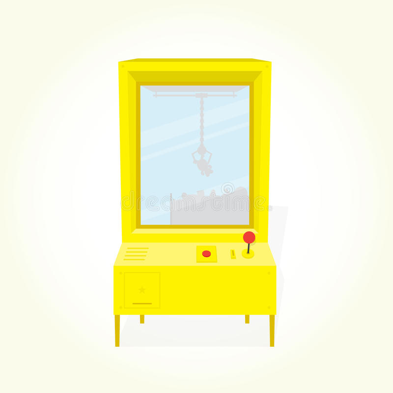 Claw machine isolated vector vector illustration