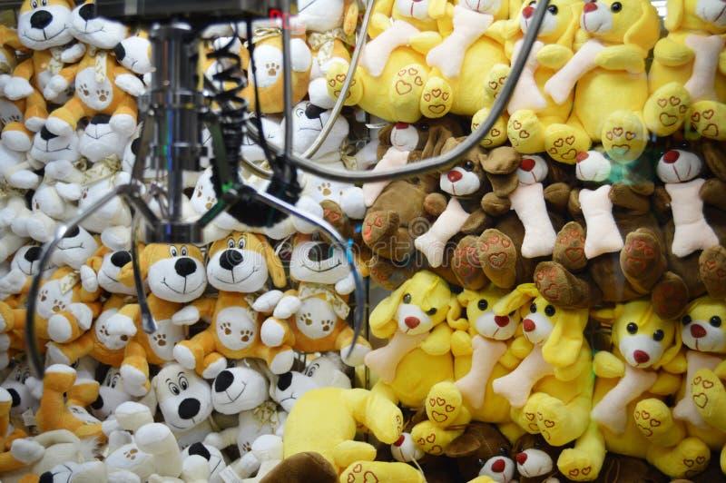Claw Machine - Soft Toys stock photo