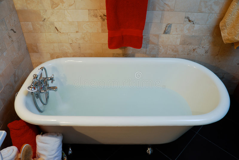 Clawfoot bathtub stock photo