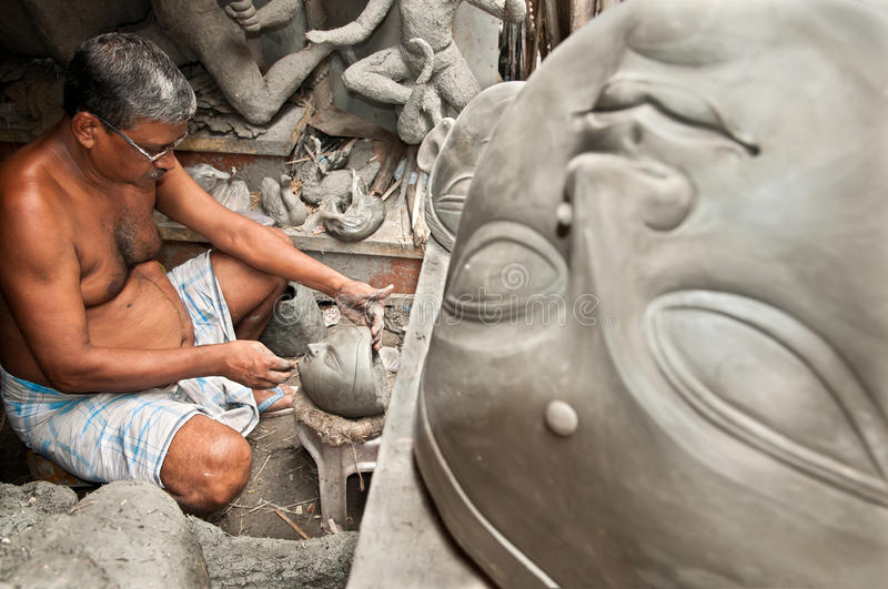 Download Clay artisan at work editorial stock image. Image of brown - 20805889