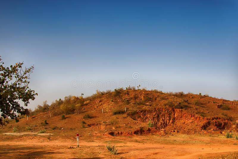Clay hill from which local population takes clay royalty free stock photos