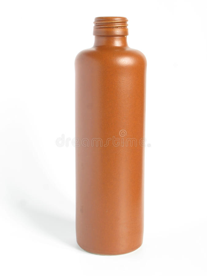 Clay bottle royalty free stock images