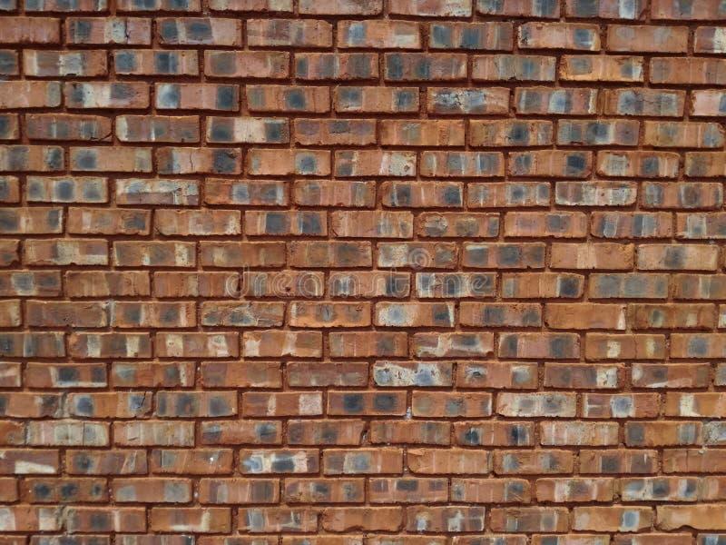 Clay Brick Wall rojo imagenes de archivo