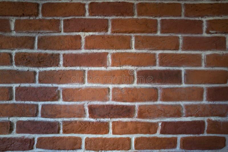 Clay Brick Wall rosso fotografia stock libera da diritti