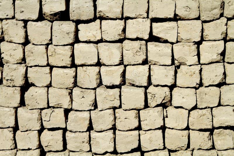 Clay bricks. Beautiful background of clay bricks stock photo
