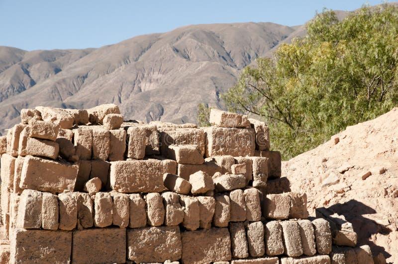 Clay Bricks - Argentina. Clay Bricks in Northern Argentina royalty free stock photos