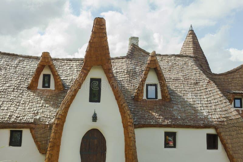 Clay castle in Porumbacu de Sus stock photos